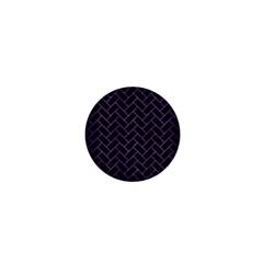 Brick2 Black Marble & Purple Brushed Metal (r) 1  Mini Buttons by trendistuff