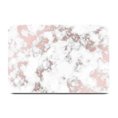 Pure And Beautiful White Marple And Rose Gold, Beautiful ,white Marple, Rose Gold,elegnat,chic,modern,decorative, Plate Mats by 8fugoso