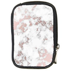 Pure And Beautiful White Marple And Rose Gold, Beautiful ,white Marple, Rose Gold,elegnat,chic,modern,decorative, Compact Camera Cases by 8fugoso