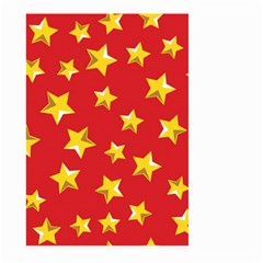 Yellow Stars Red Background Pattern Large Garden Flag (two Sides) by Onesevenart