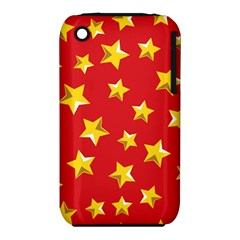 Yellow Stars Red Background Pattern Iphone 3s/3gs by Onesevenart