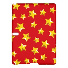 Yellow Stars Red Background Pattern Samsung Galaxy Tab S (10 5 ) Hardshell Case  by Onesevenart