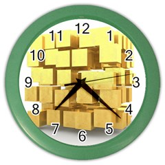 Gold Bars Feingold Bank Color Wall Clocks by Onesevenart