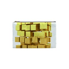 Gold Bars Feingold Bank Cosmetic Bag (small)  by Onesevenart