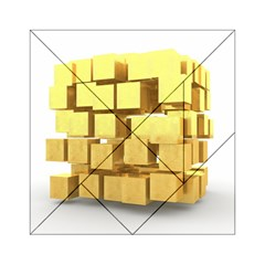 Gold Bars Feingold Bank Acrylic Tangram Puzzle (6  X 6 ) by Onesevenart