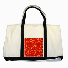 Yellow Stars Red Background Two Tone Tote Bag by Onesevenart