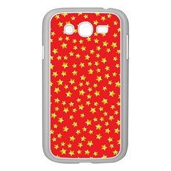 Yellow Stars Red Background Samsung Galaxy Grand Duos I9082 Case (white) by Onesevenart