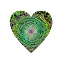 Wire Woven Vector Graphic Heart Magnet by Onesevenart