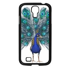 Peacock Bird Peacock Feathers Samsung Galaxy S4 I9500/ I9505 Case (black) by Onesevenart