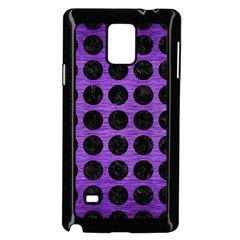 Circles1 Black Marble & Purple Brushed Metal Samsung Galaxy Note 4 Case (black) by trendistuff