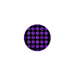 Circles1 Black Marble & Purple Brushed Metal (r) 1  Mini Buttons by trendistuff