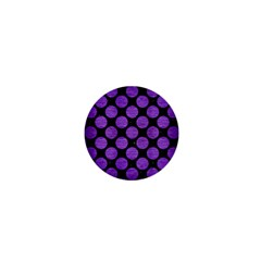 Circles2 Black Marble & Purple Brushed Metal (r) 1  Mini Buttons by trendistuff