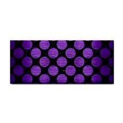 Circles2 Black Marble & Purple Brushed Metal (r) Cosmetic Storage Cases by trendistuff