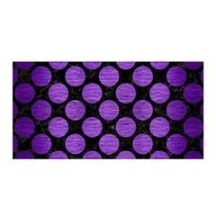 Circles2 Black Marble & Purple Brushed Metal (r) Satin Wrap by trendistuff