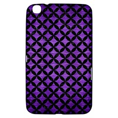 Circles3 Black Marble & Purple Brushed Metal Samsung Galaxy Tab 3 (8 ) T3100 Hardshell Case  by trendistuff