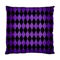 Diamond1 Black Marble & Purple Brushed Metal Standard Cushion Case (two Sides) by trendistuff