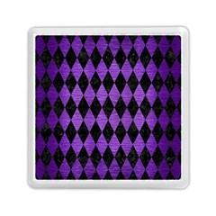 Diamond1 Black Marble & Purple Brushed Metal Memory Card Reader (square)  by trendistuff