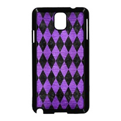 Diamond1 Black Marble & Purple Brushed Metal Samsung Galaxy Note 3 Neo Hardshell Case (black) by trendistuff