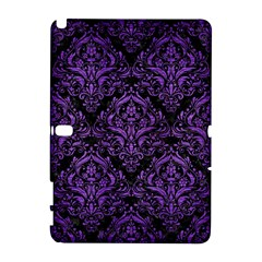 Damask1 Black Marble & Purple Brushed Metal (r) Galaxy Note 1 by trendistuff