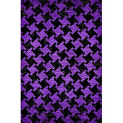 Houndstooth2 Black Marble & Purple Brushed Metal 5 5  X 8 5  Notebooks by trendistuff