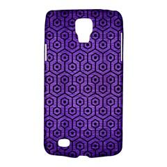 Hexagon1 Black Marble & Purple Brushed Metal Galaxy S4 Active by trendistuff