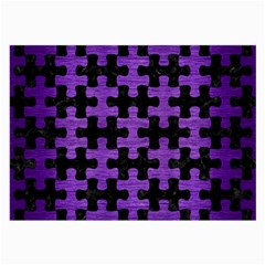 Puzzle1 Black Marble & Purple Brushed Metal Large Glasses Cloth by trendistuff