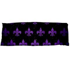 Royal1 Black Marble & Purple Brushed Metal Body Pillow Case (dakimakura) by trendistuff