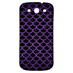 Scales1 Black Marble & Purple Brushed Metal (r) Samsung Galaxy S3 S Iii Classic Hardshell Back Case by trendistuff