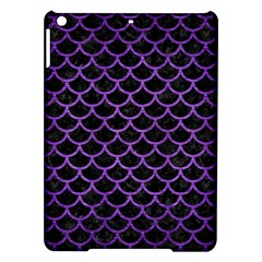 Scales1 Black Marble & Purple Brushed Metal (r) Ipad Air Hardshell Cases by trendistuff