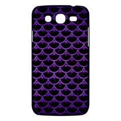 Scales3 Black Marble & Purple Brushed Metal (r) Samsung Galaxy Mega 5 8 I9152 Hardshell Case  by trendistuff