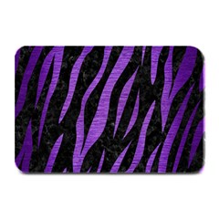 Skin3 Black Marble & Purple Brushed Metal (r) Plate Mats by trendistuff