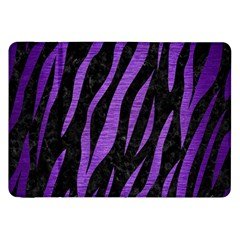Skin3 Black Marble & Purple Brushed Metal (r) Samsung Galaxy Tab 8 9  P7300 Flip Case by trendistuff