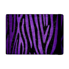 Skin4 Black Marble & Purple Brushed Metal Apple Ipad Mini Flip Case by trendistuff