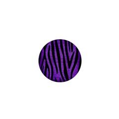 Skin4 Black Marble & Purple Brushed Metal (r) 1  Mini Buttons by trendistuff