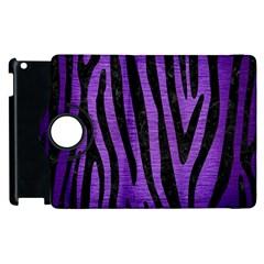 Skin4 Black Marble & Purple Brushed Metal (r) Apple Ipad 2 Flip 360 Case by trendistuff