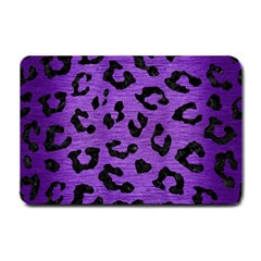 Skin5 Black Marble & Purple Brushed Metal (r) Small Doormat  by trendistuff