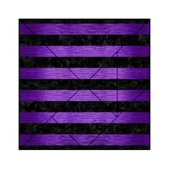 Stripes2 Black Marble & Purple Brushed Metal Acrylic Tangram Puzzle (6  X 6 ) by trendistuff