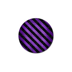 Stripes3 Black Marble & Purple Brushed Metal Golf Ball Marker (4 Pack) by trendistuff