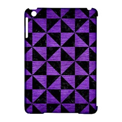 Triangle1 Black Marble & Purple Brushed Metal Apple Ipad Mini Hardshell Case (compatible With Smart Cover) by trendistuff