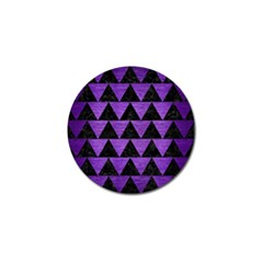 Triangle2 Black Marble & Purple Brushed Metal Golf Ball Marker (10 Pack) by trendistuff