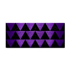 Triangle2 Black Marble & Purple Brushed Metal Cosmetic Storage Cases by trendistuff