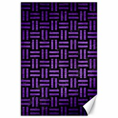 Woven1 Black Marble & Purple Brushed Metal (r) Canvas 24  X 36  by trendistuff