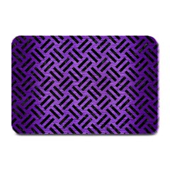 Woven2 Black Marble & Purple Brushed Metalwoven2 Black Marble & Purple Brushed Metal Plate Mats by trendistuff