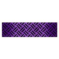 Woven2 Black Marble & Purple Brushed Metalwoven2 Black Marble & Purple Brushed Metal Satin Scarf (oblong) by trendistuff