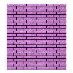 Brick1 Black Marble & Purple Colored Pencil Shower Curtain 66  X 72  (large)  by trendistuff