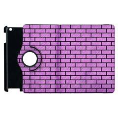 Brick1 Black Marble & Purple Colored Pencil Apple Ipad 2 Flip 360 Case by trendistuff