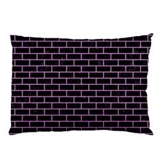 Brick1 Black Marble & Purple Colored Pencil (r) Pillow Case by trendistuff