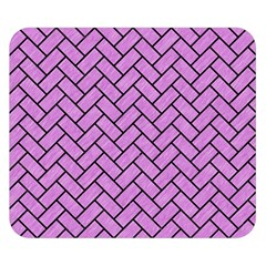 Brick2 Black Marble & Purple Colored Pencil Double Sided Flano Blanket (small)  by trendistuff