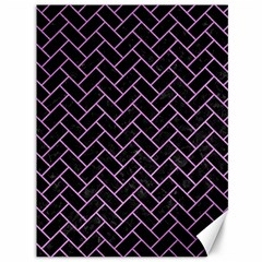 Brick2 Black Marble & Purple Colored Pencil (r) Canvas 36  X 48   by trendistuff