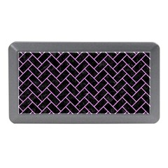 Brick2 Black Marble & Purple Colored Pencil (r) Memory Card Reader (mini) by trendistuff